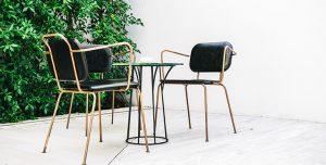 muebles para exterior de aluminio comedor minimalista