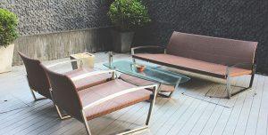 muebles para exterior de aluminio sala terraza